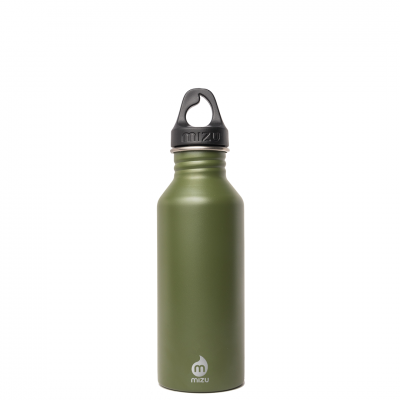 Image of Engraved Mizu M5 bottle,  stainless steel reusable bottle, Army Green