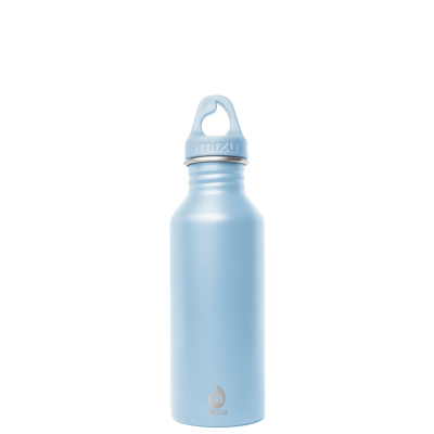 Image of Engraved Mizu M5 bottle, stainless steel 100% recyclable bottle Ice Blue
