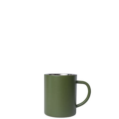 Image of Engraved Mizu Camp Cup, Retro Style campfire mug 415ml army green