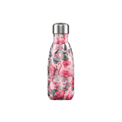 Image of Promotional Chilly's Bottle Tropical Flamingo 260ml, Official Chilly's Bottles