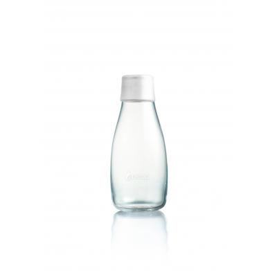 Image of Printed Retap glass water bottle 300ml with Frosted White li