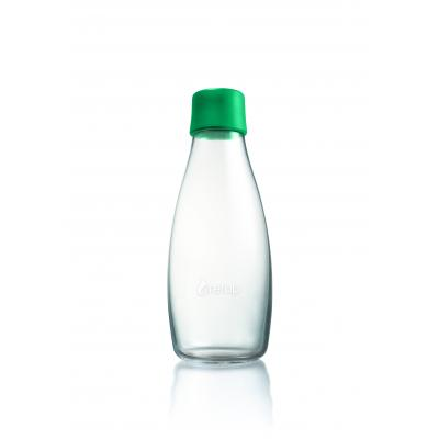 Image of Promotional Retap glass water bottle 500ml with Strong Green lid