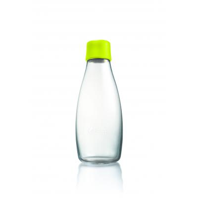 Image of Branded Retap glass water bottle 500ml with Lemon Lime lid