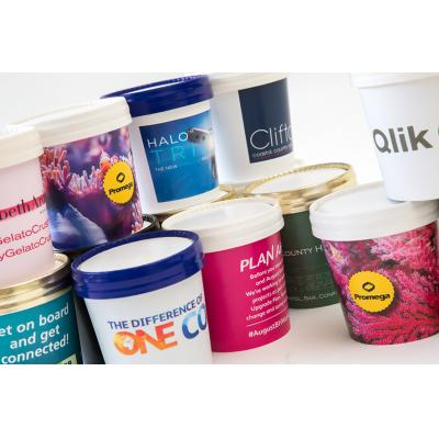 Image of Personalised Individual Ice Cream Tubs 125ml, With Full Colour Print