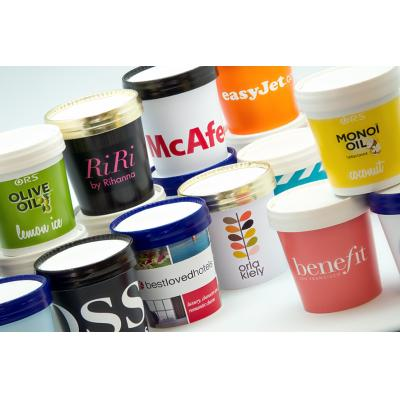 Image of Branded Individual Ice Cream Tubs 125ml, With Full Colour Print