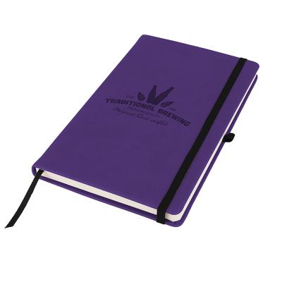 Image of Branded Primo A5 Notebook with PU cover, Violet Purple