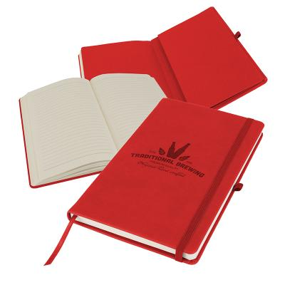 Image of Promotional Primo A5 Notebook with PU cover, Strawberry Red