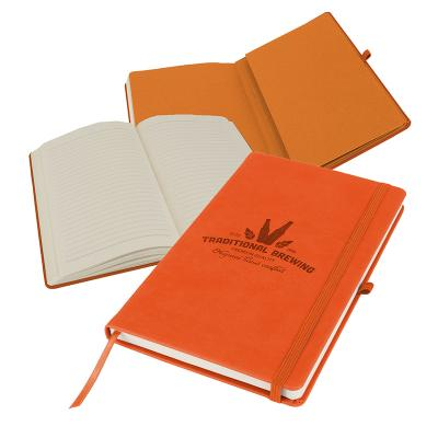 Image of Promotional Primo A5 Notebook with PU cover, Orange