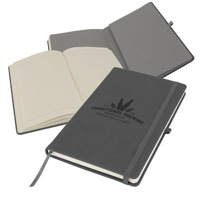 Image of Full Colour Printed Primo A5 Notebook with PU cover, Dark Grey