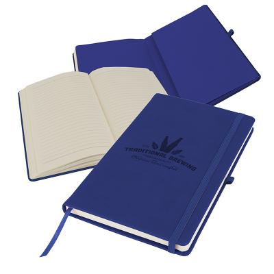 Image of Promotional Primo A5 Notebook with PU cover, Navy Blue