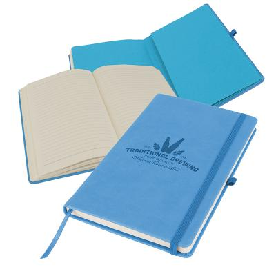Image of Branded Primo A5 Notebook with PU cover, Blue