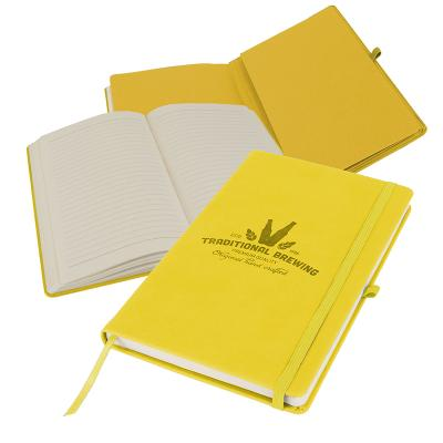 Image of Promotional Primo A5 Notebook with PU cover, Lemon Yellow