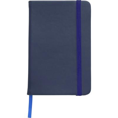 Image of Branded A5 Notebook soft touch with lined pages blue