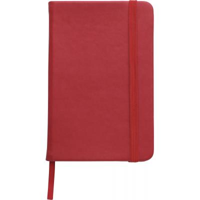 Image of Printed A5 Notebook soft touch low cost promotional notebook red