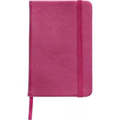 Image of Promotional A5 Notebook soft touch low cost branded notebook pink