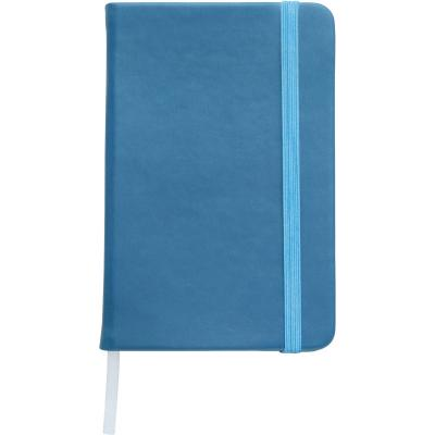 Image of Embossed A5 Notebook soft touch low cost promotional notebook light blue