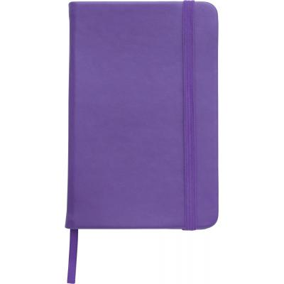 Image of Embossed A5 Notebook soft touch low cost promotional notebook purple