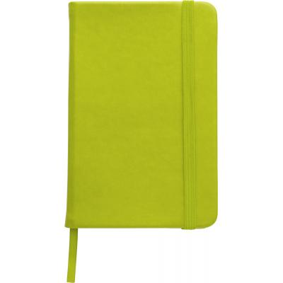 Image of Promotional A5 Notebook soft touch low cost branded notebook light green