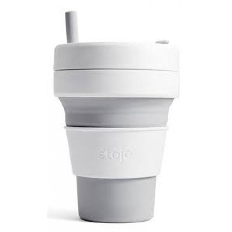 Stojo Biggie Collapsible Travel Cup, 470ml, Grey