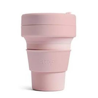 Promotional Stojo Brooklyn collapsible coffee cup Cashmere