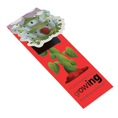Image of Shaped Folding Magnetic Bookmarks - Low cost magnetic book marks full colour print