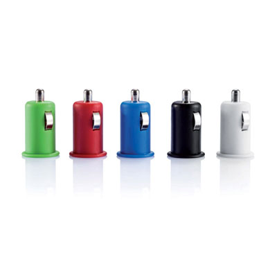 Image of Promotional Micro Car USB Charger With Flame Retardant Protection.