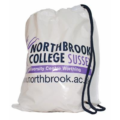 Image of Promotional Bags; Duffle Style Polythene Carrier Bag printed with your brand, design or logo