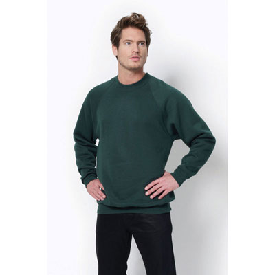 Image of Printed Men's Sweatshirt- Men's Sweatshirt Crew Neck SG Men's Raglan Sleeve Comes In Ladies And Children's Sizes, 6 Colours Available