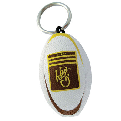 Image of Promotional Printed Rugby Ball Key Ring