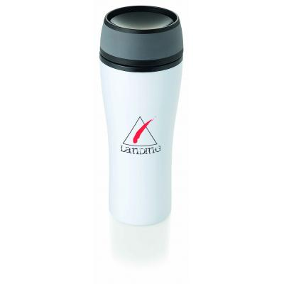Image of Printed Curve Travel Mug. Presented In Gift Box