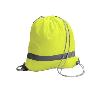Image of Printed Drawstring backpack Bag With Reflective Strip