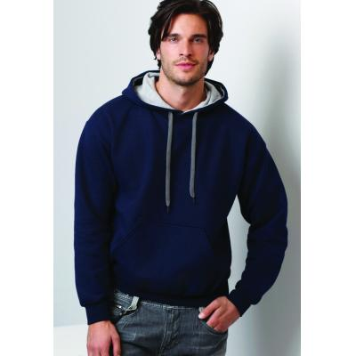 Image of Promotional Printed Men's Hooded Sweatshirt- Men's Heavy Contrast Hoodie (Gildan) 7 Colour Ways