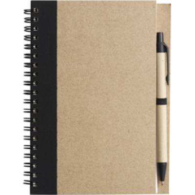Image of Promotional Recycled Wire Bound Notebook & Pen