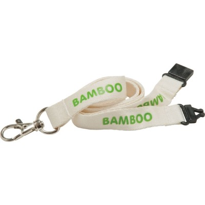 Image of Promotional Bamboo Lanyards - 20mm Bamboo Lanyard - Natural Colour