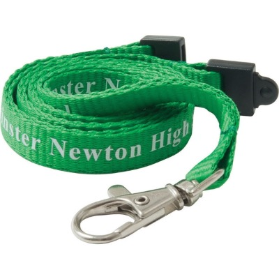 Image of Promotional 10mm Flat Polyester Lanyard Custom Printed