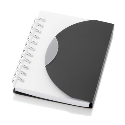 Image of Printed Wire Bound Notebook. Size A7