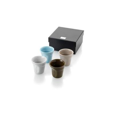 Image of Promotional 4 piece Ceramic Espresso Set presented in a gift box