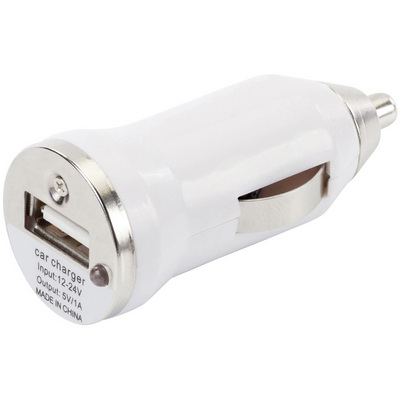 Image of Printed Car Power Adapter. Power Adapter with USB Port