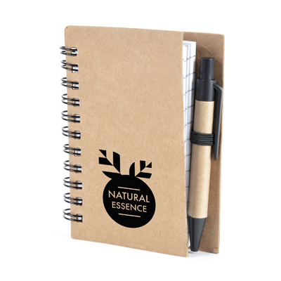 Image of Branded Recycled Nash Notebook  A7 With Pen