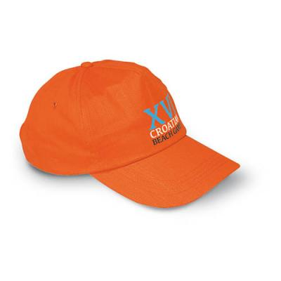 Image of Printed Baseball Cap-Baseball Cap With 5 Panel (Glop)Colours: orange, black, royal blue, red, yellow, green, white, blue