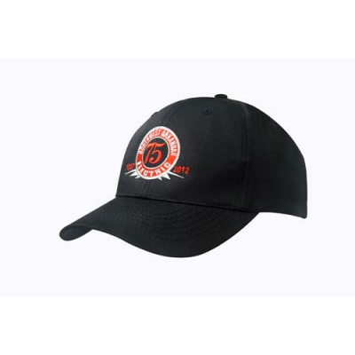 Image of Printed Baseball Cap -Poly Twill 6 Panel Baseball Cap Low Profile Style