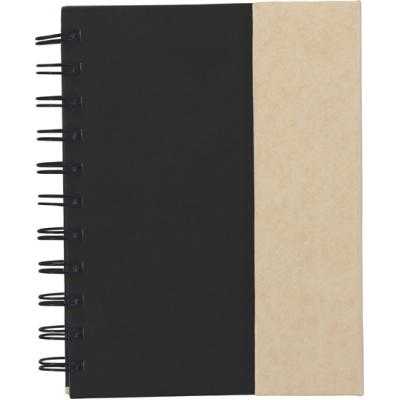 Image of Branded Wire bound notebook with pen & sticky notes