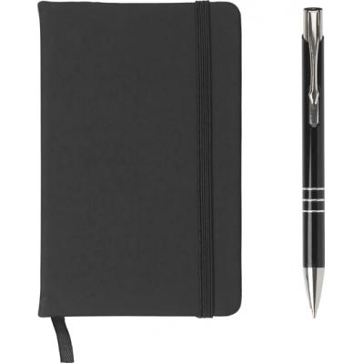 Image of Branded A5 Notebook with soft pu cover and ballpen set