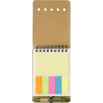 Image of Branded Wire Bound Notebook With Sticky Notes And Pen