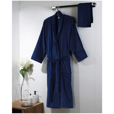 Image of Promotional Bath Robe- Bath Robe (Velour Bath Robe) Colours: white, navy