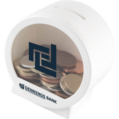 Image of Promotional Money Pod - Coins and money saving Pods ( See Through )