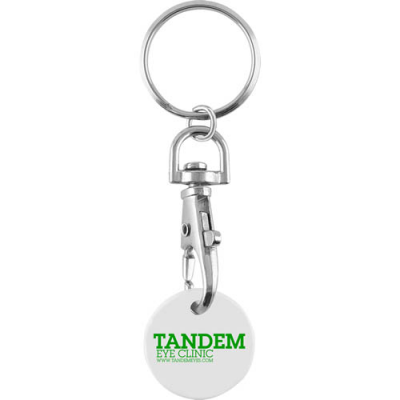 Image of Promotional Trolley Coin Keychain. Express Service. New £1 Trolley Coins Now Available
