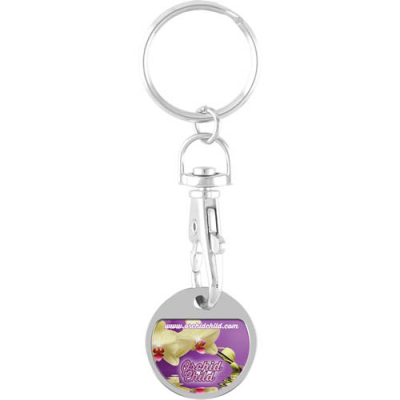 Image of Branded Trolley Coin Keychain. New 2017 £1 Trolley Coins Now Available