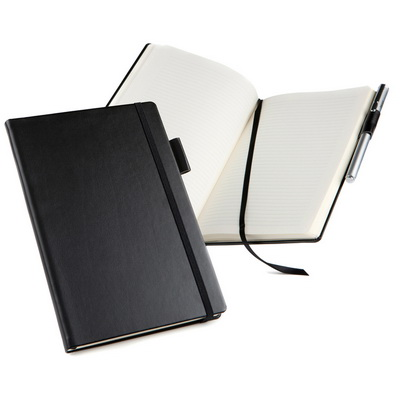 Image of A5 Casebound Notebook Journal Belluno Leather look - Top quality promotional notebook