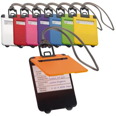 Image of Promotional Kemer Luggage Tag - Promotional Cheap Colourful Luggage Tags Printed